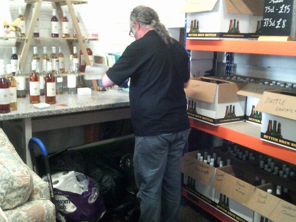 Bob of Iceni Meadery Peterborough - an expert at work