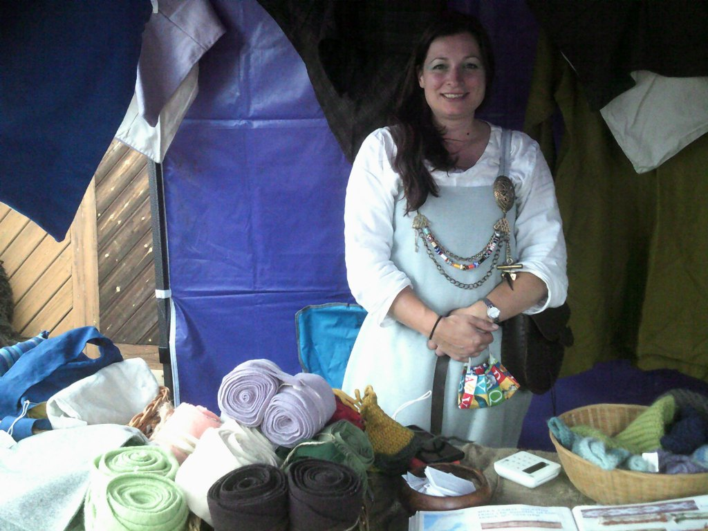 Jenny from Drakos Djottir with some of her hand crafted goods - that book at the bottom includes details of the actual finds her work is based on. Excellent stuff.