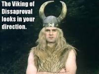 Viking of disapproval